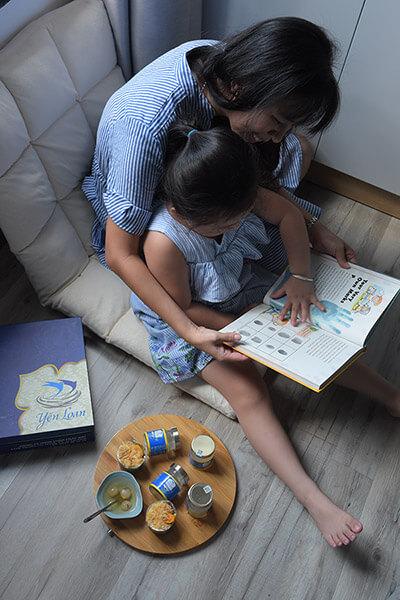 Yến sào giúp bé phát triển về trí tuệ và tư duy.