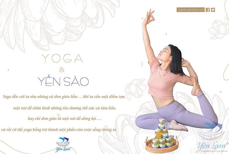 Lợi ích sức khỏe của việc kết hợp tập luyện yoga và sử dụng yến sào