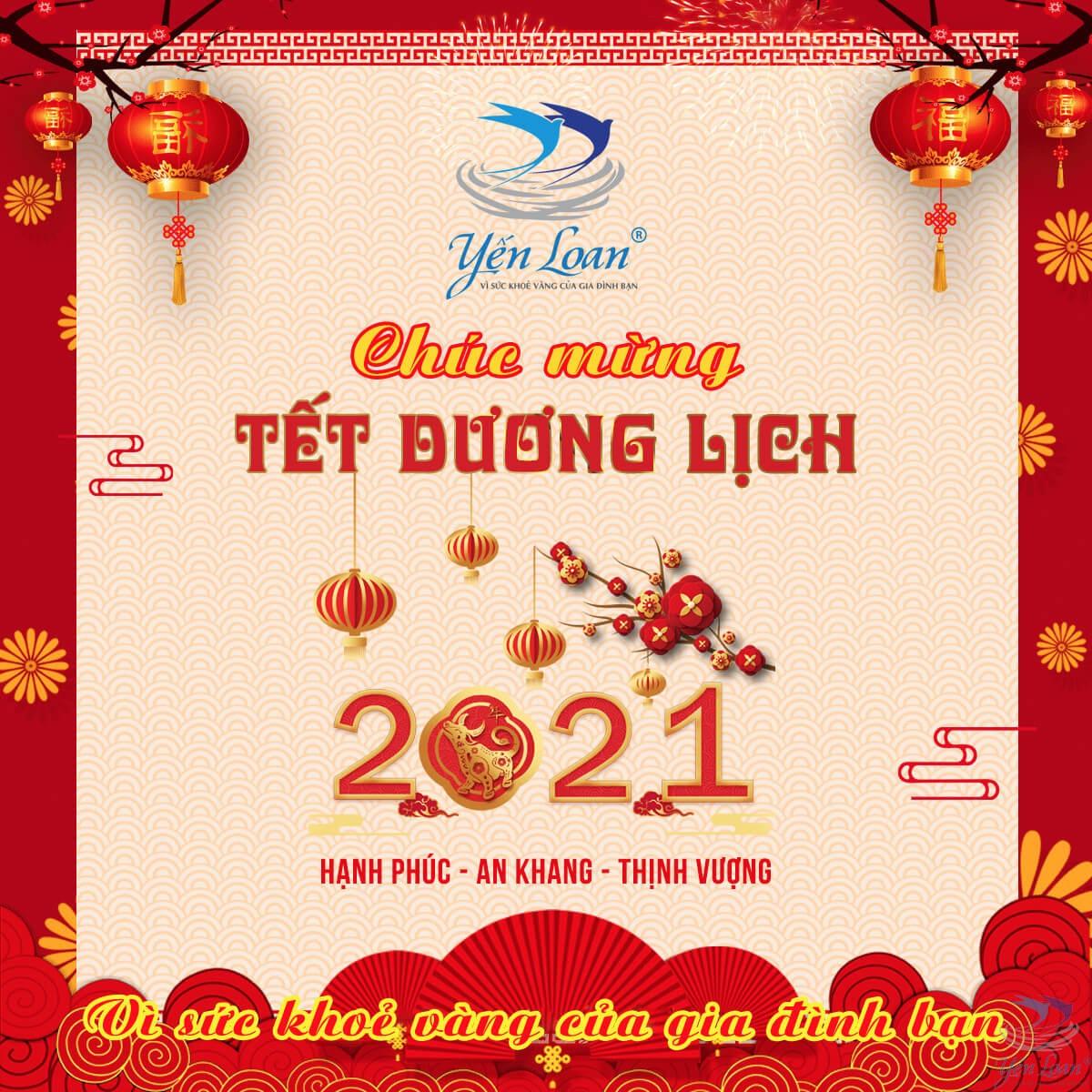 Chúc mừng Tết Dương Lịch 2021